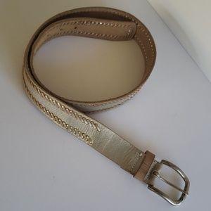 Nine west distress brown silver belt M